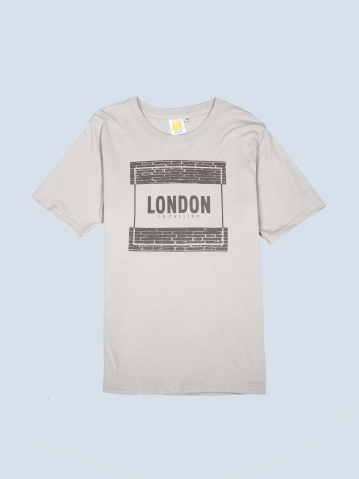 BOYS LONDON IS CALLING GRAPHIC TEE IN LIGHT GREY