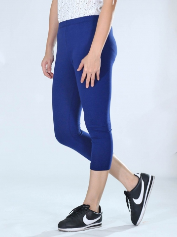 NEOL CROP LEGGINGS IN DARK BLUE