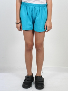 HANNA SOLID KNIT SHORTS IN TURQUOISE
