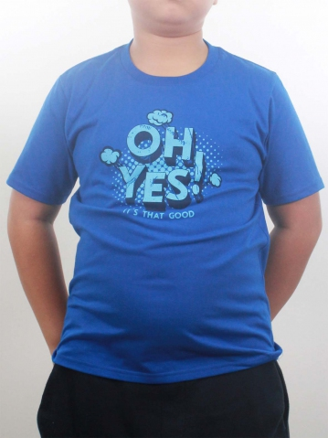 BOYS OH YES GRAPHIC TEE IN ROYAL