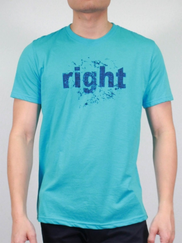 MEN RIGHT GRAPHIC TEE IN MID BLUE