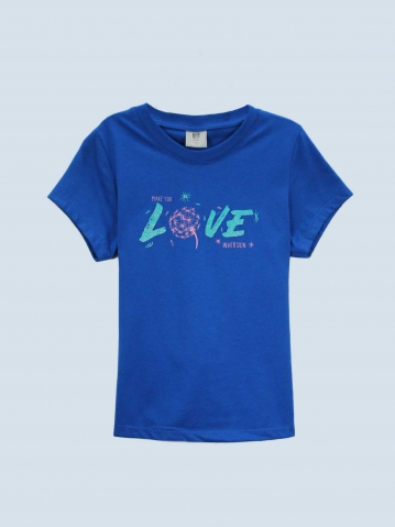 GIRLS LOVE INVERSION GRAPHIC TEE IN ROYAL