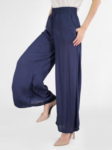 JANE FLARED LONG PANTS IN DARK NAVY
