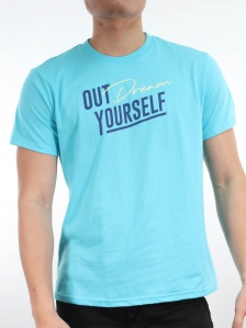 MEN OUT DREAM YOURSELF GRAPHIC TEE IN LIGHT BLUE