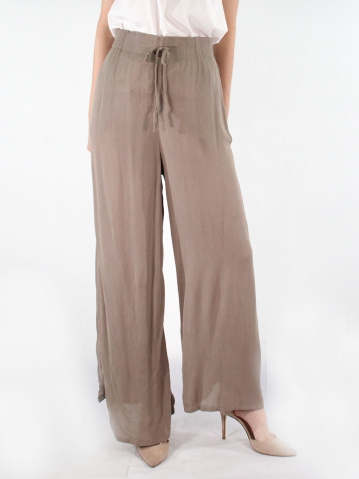 JANE FLARED LONG PANTS IN DARK KHAKI