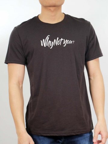 MEN WHY NOT YOU GRAPHIC TEE IN CHESTNUT