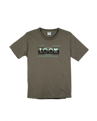 BOYS NEVER LOOK BACK GRAPHIC TEE IN ARMY GREEN