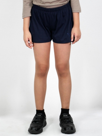 MELODI SOLID KNIT SHORTS IN DARK NAVY