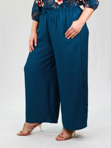 PENNY SOLID EASY LONG PANTS IN PETROL