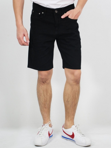 MIKE COTTON BERMUDA SHORTS IN BLACK