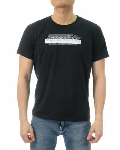 MEN AMAZING GRAPHIC TEE IN BLACK