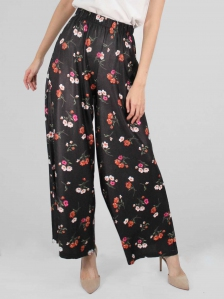 HEBE FLARED LONG PANTS IN BLACK
