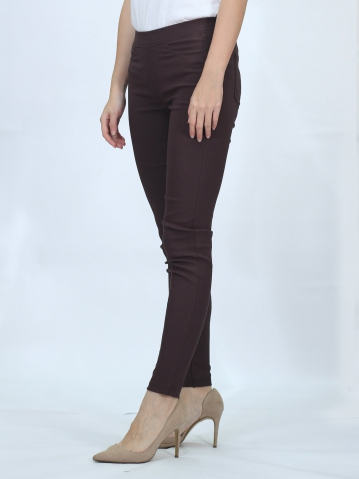 OLIVIA WOMEN LONG JEGGING IN DARK BROWN