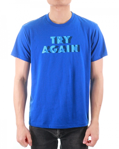 MEN TRY AGAIN GRAPHIC TEE IN ROYAL
