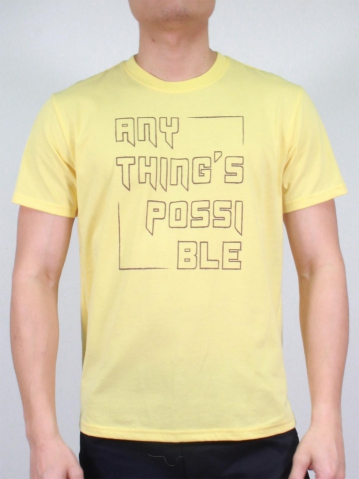 MEN ANYTHING'S POSSIBLE GRAPHIC TEE IN LIGHT YELLOW