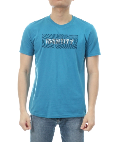 MEN IDENTITY GRAPHIC TEE IN DARK BLUE