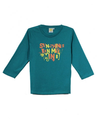GIRLS SUNSHINE ON MY MIND GRAPHIC TEE IN DARK TEAL