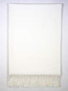 FIONA SOLID COLOUR SCARF IN OFF WHITE