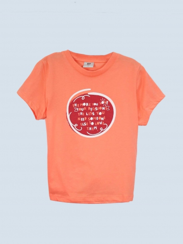 GIRLS YOUR DECISIONS GRAPHIC TEE IN PEACH