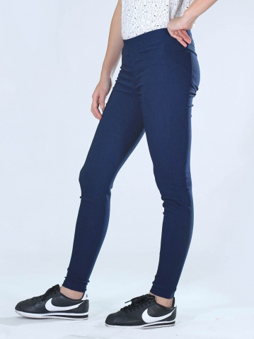 NEOL WOVEN LONG JEGGING IN DARK NAVY