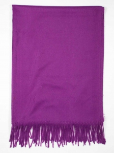 FIONA SOLID COLOUR SCARF IN MID PURPLE