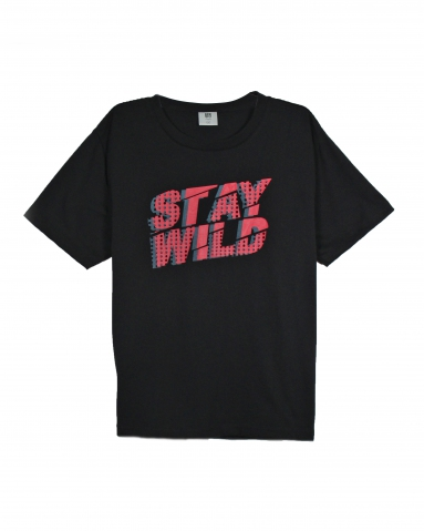 BOYS STAY WILD GRAPHIC TEE IN BLACK