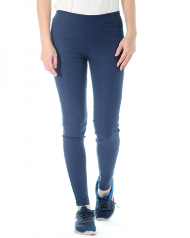 VICTORIA WOVEN LONG JEGGING IN DARK NAVY