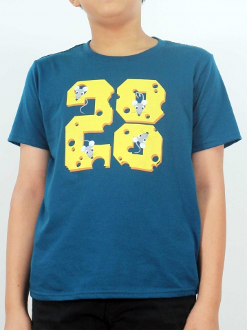 BOYS MOUSE 2020 GRAPHIC TEE IN DARK BLUE