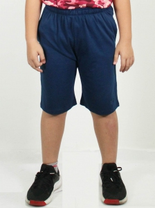 HUGO SOLID KNIT BERMUDA SHORTS IN DARK NAVY