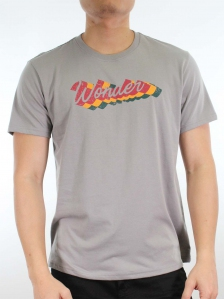 MEN WONDER GRAPHIC TEE IN MID GREY
