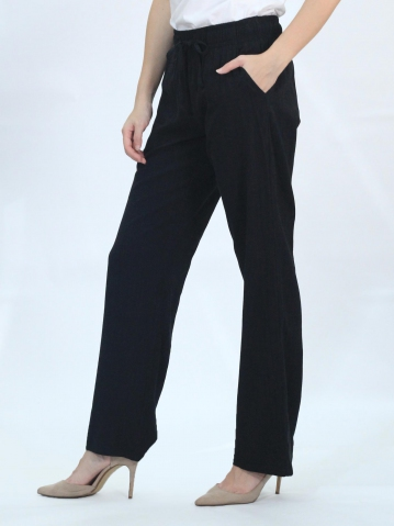 OLLIE SOLID EASY  LONG PANTS IN BLACK