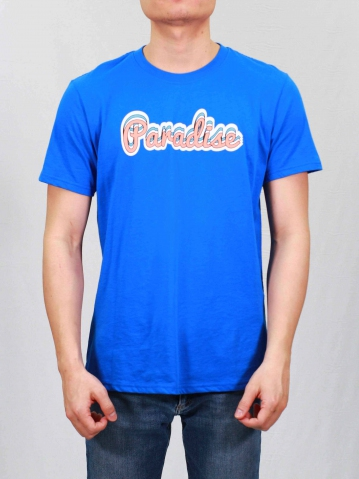 MEN PARADISE GRAPHIC TEE IN ROYAL
