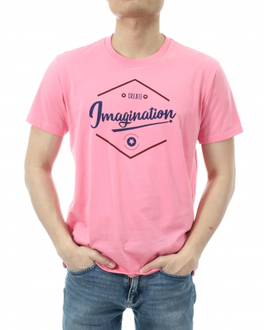 MEN CREATE IMAGINATION GRAPHIC TEE IN LIGHT CORAL