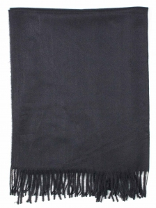 FIONA SOLID COLOUR SCARF IN BLACK
