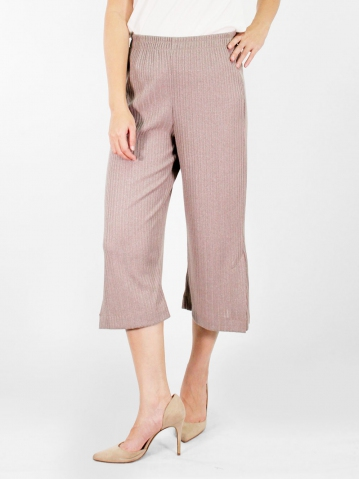 JANE FLARED CROP PANTS IN DARK BROWN