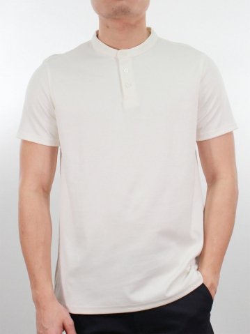 KENT SHORT SLEEVE POLO IN CREAM