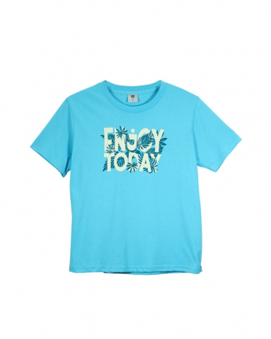 BOYS ENJOY TODAY GRAPHIC TEE IN MID BLUE