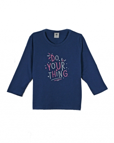 GIRLS DO YOUR THING GRAPHIC TEE IN DARK NAVY