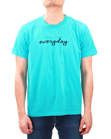 MEN SMALL STEPS EVERYDAY GRAPHIC TEE IN MID BLUE