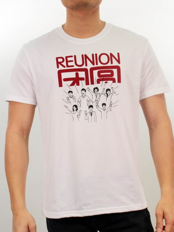 MEN REUNION GRAPHIC TEE IN WHITE