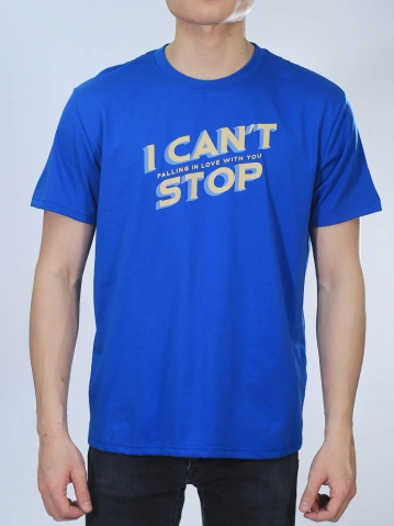 MEN I CANNOT STOP GRAPHIC TEE IN ROYAL