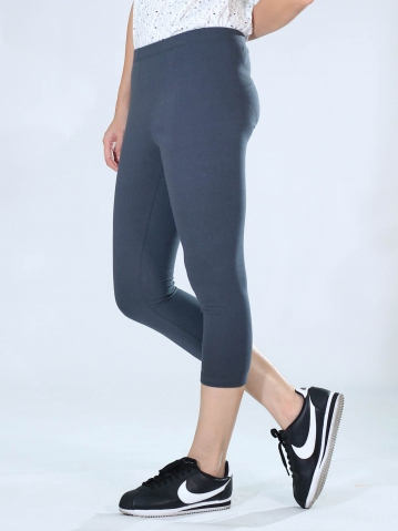 NEOL CROP LEGGINGS IN DARK GREY