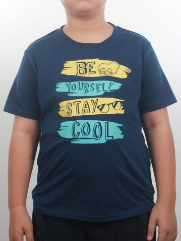 BOYS STAY COOL GRAPHIC TEE IN DARK NAVY