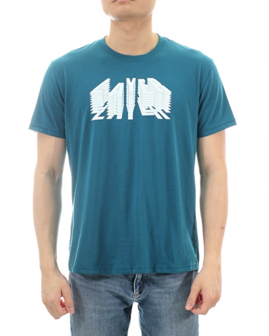 MEN LAYER GRAPHIC TEE IN DARK TEAL