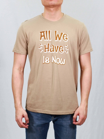 MEN ALL WE HAVE IS NOW GRAPHIC TEE IN LIGHT KHAKI