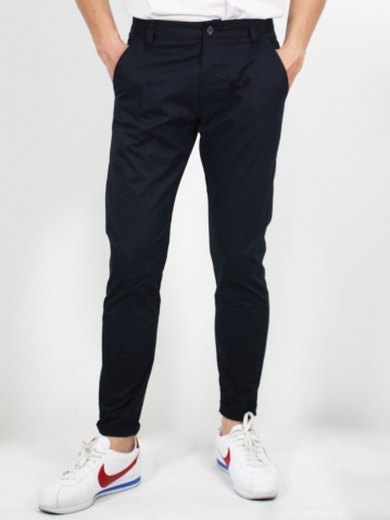 MIKE COTTON LONG PANTS IN DARK NAVY