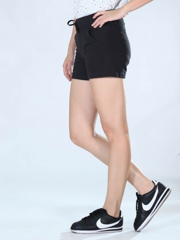 NEOL KNITTED SHORT PANTS IN BLACK