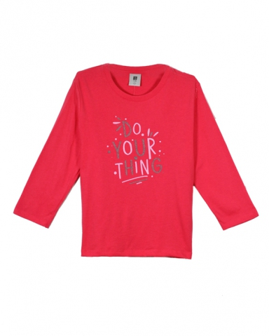GIRLS DO YOUR THING GRAPHIC TEE IN ROSE