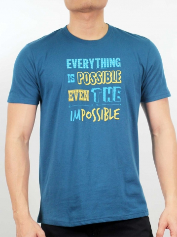 MEN EVERYTHING IS POSSIBLE GRAPHIC TEE IN PETROL