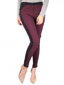GLORIA CUT & SEW LONG JEGGING IN BURGUNDY